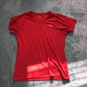 Dark coral under armour workout shirt